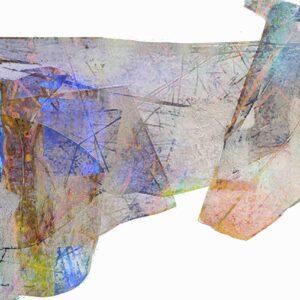 ציור אבסטרקט ממוחשב גאומטרי בצבעוניות הרמונית