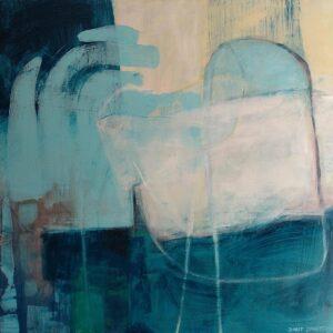 ציור חדש לבית ציפור כחולה, בגוונים כחולים