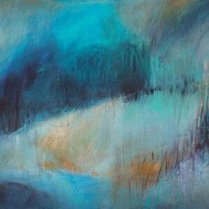 ציור לבית בגוונים כחולים